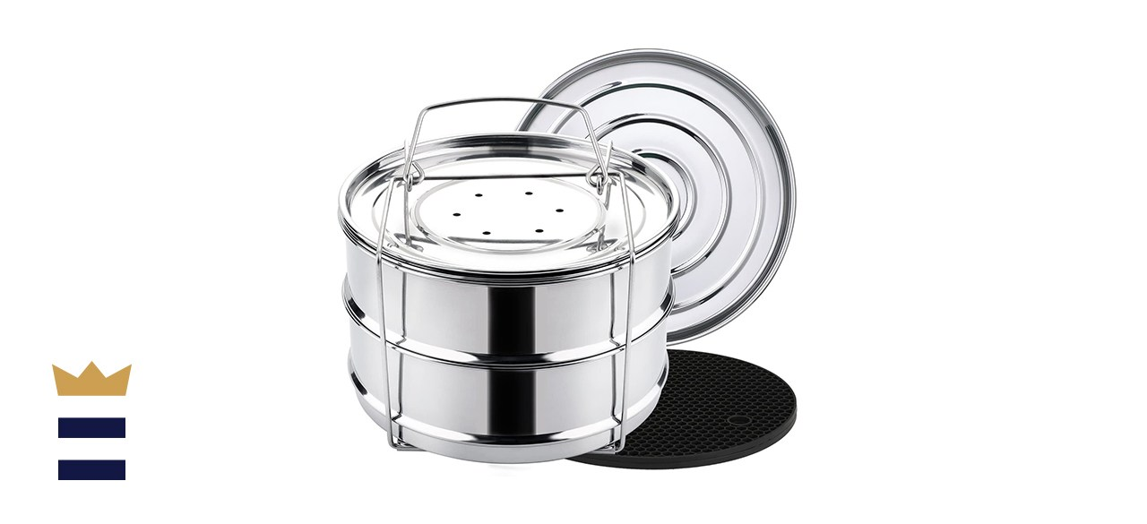 Aozita Stackable Steamer Insert Pans with Sling for Instant Pot Accessories 6/8 qt