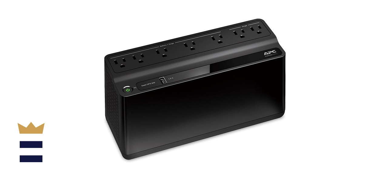 APC UPS Battery Backup & Surge Protector with USB Charger, 600 Volt-Amperes