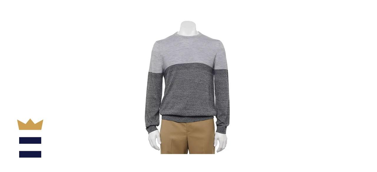 Apt. 9 Regular-Fit Colorblock Men's Crewneck Sweater