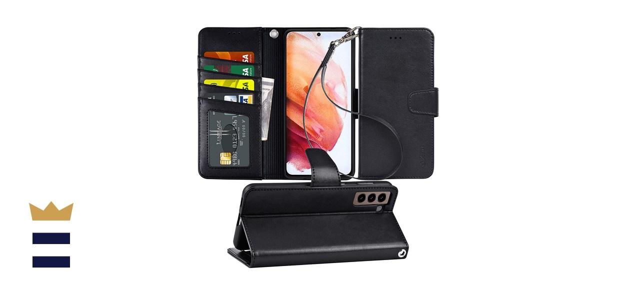 Arae Case for Samsung Galaxy S21 Wallet Case