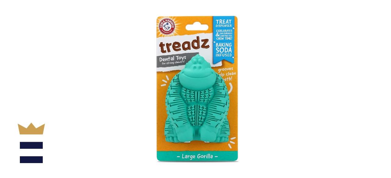 Arm & Hammer Super Treadz Gator & Gorilla Chew Toy