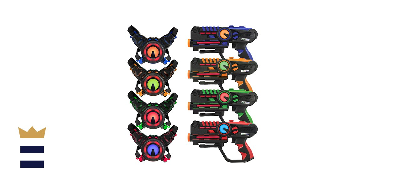 Armogear Laser Tag Guns With Vests Set of Four