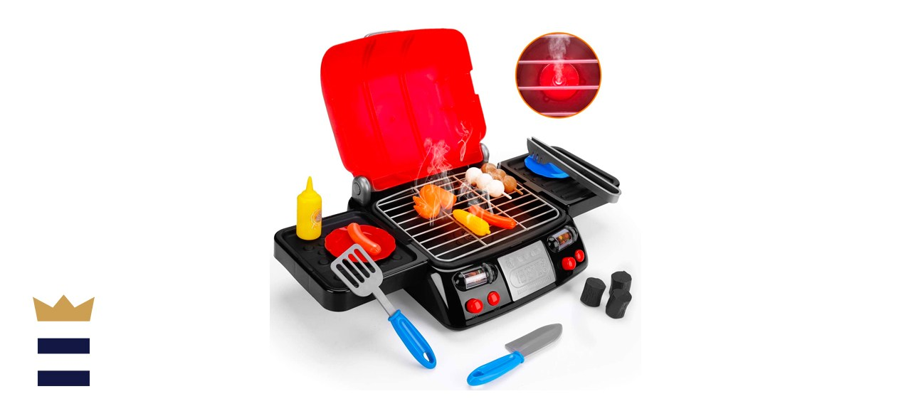 AugToy Kids Play Food Grill with Pretend Smoke