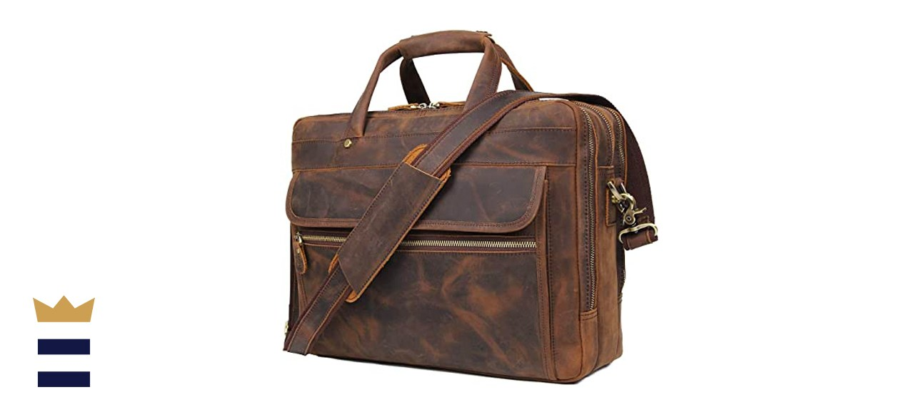 Augus Leather Briefcase
