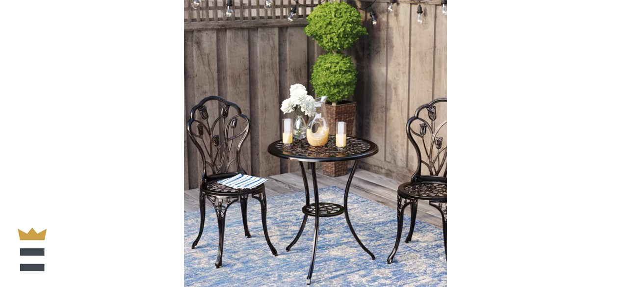August Grove Wilkins 3-Piece Bistro Set