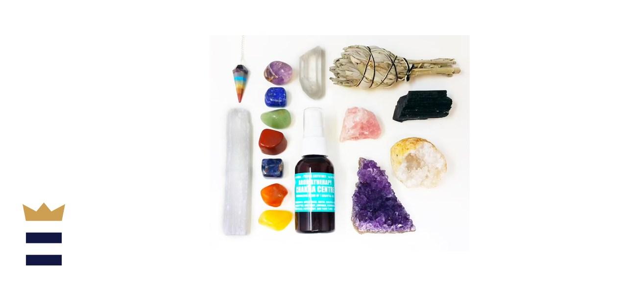 AURAMORE 16-Piece Chakra Crystal Healing Kit