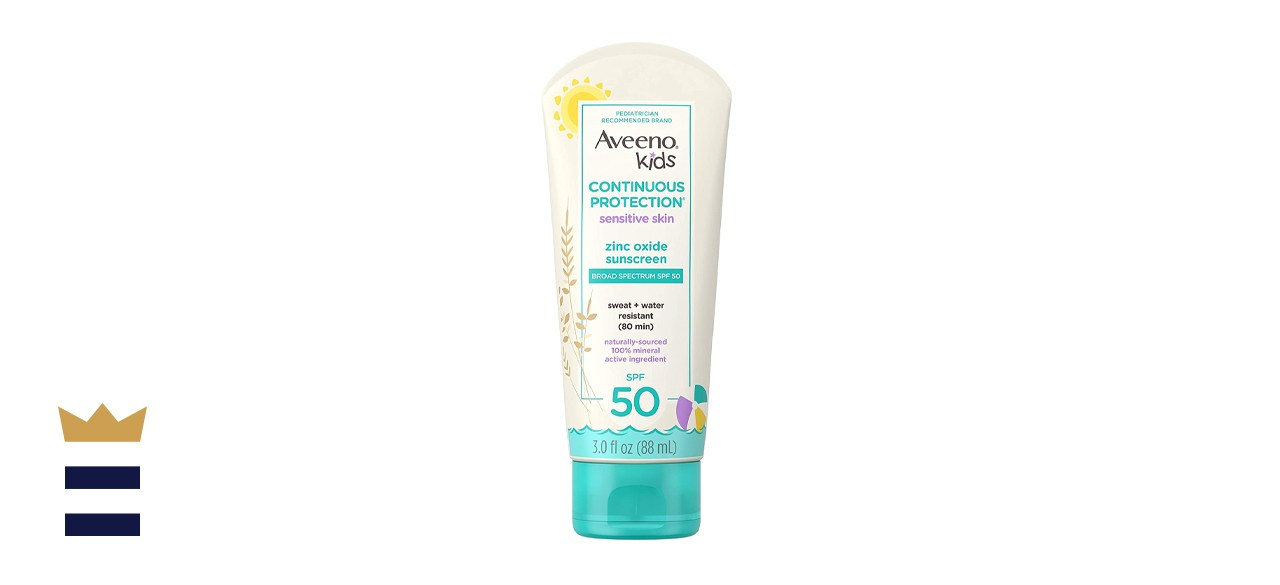 Aveeno Kids Continuous Protection Zinc Oxide Mineral Sunscreen Lotion