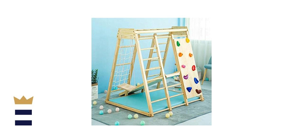 Aventur Indoor Toddler & Child Indoor Gym 6-in-1 Playground Climber