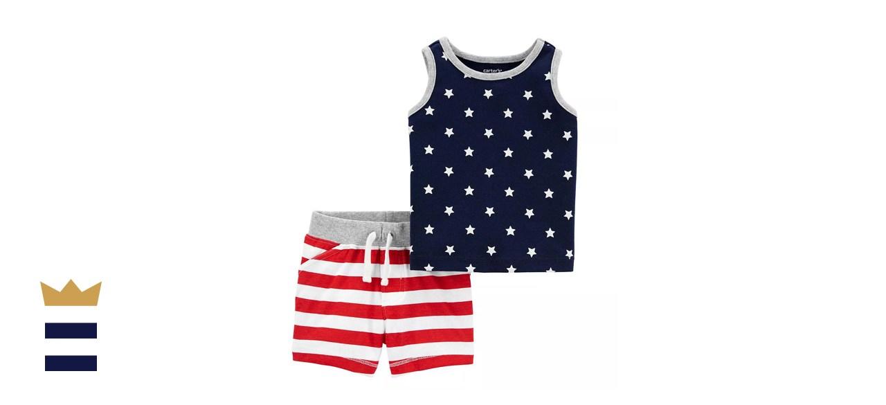 Baby Carter's Patriotic Tank Top & Shorts Set