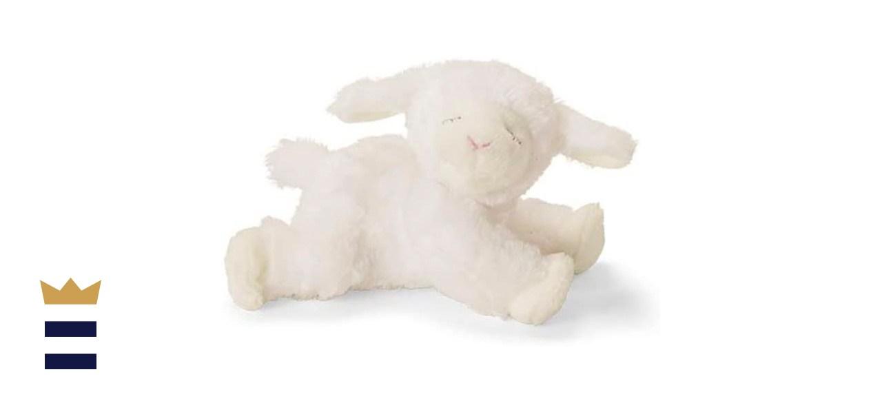 Baby GUND Winky Lamb Stuffed Animal Plush Rattle