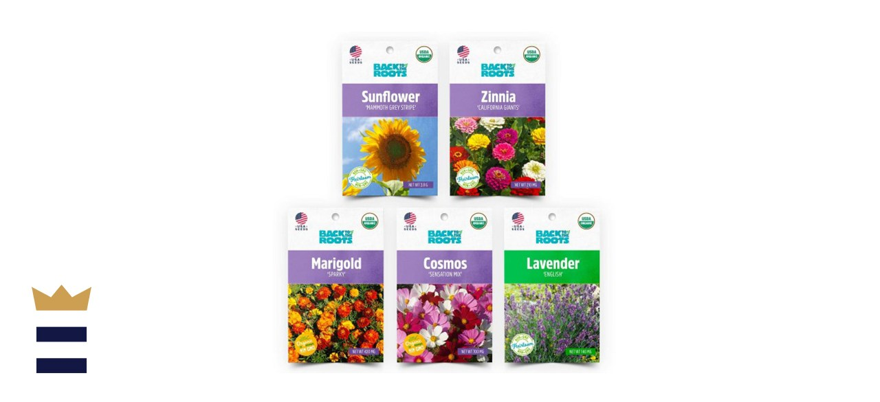 Back to the Roots Organic Flower Seeds 5-Pack