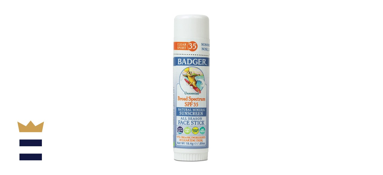 Badger SPF 35 Clear Zinc Sport Sunscreen Stick