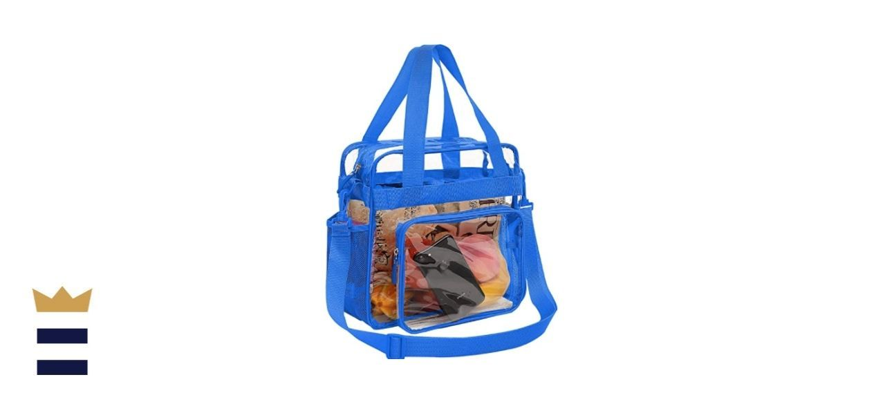 Bagail Clear Tote Bags with a Front Pocket