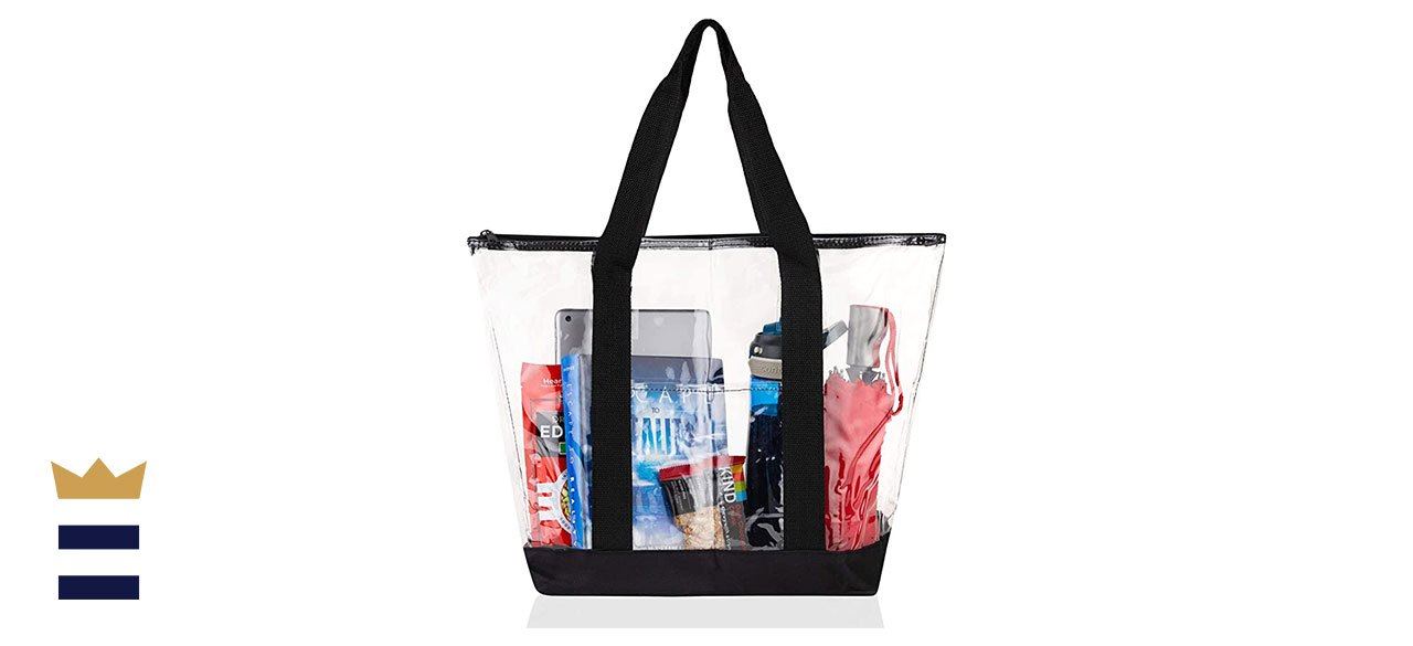 Bags for Less' Clear Zippered Tote Bag