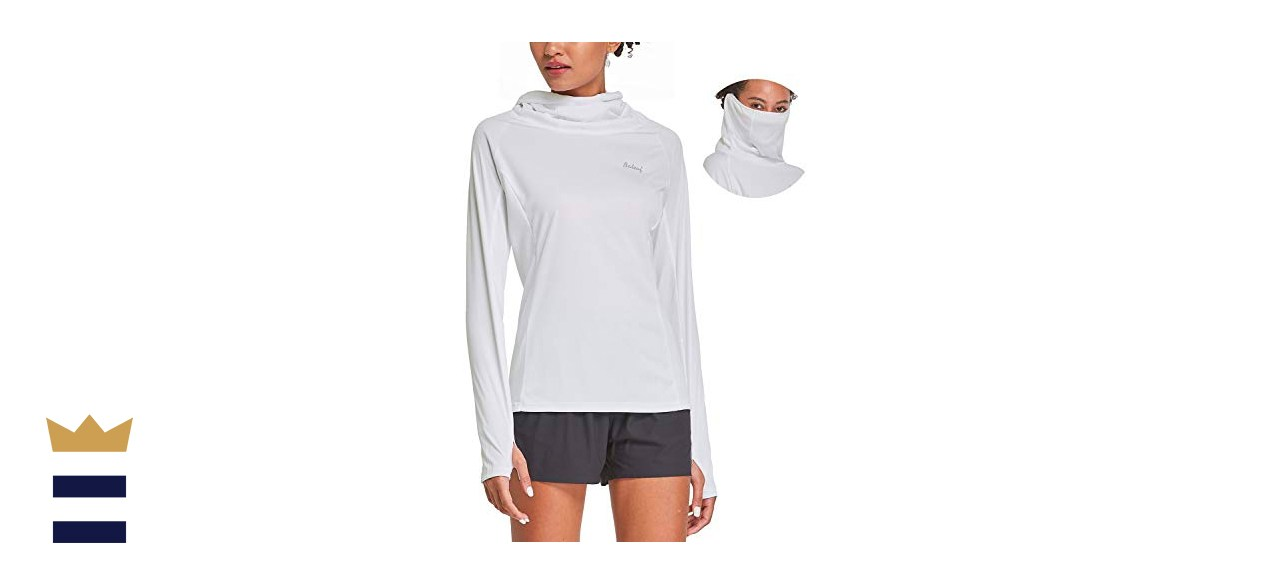 BALEAF Women's Hiking Long Sleeve Shirts with Face Cover Neck Gaiter