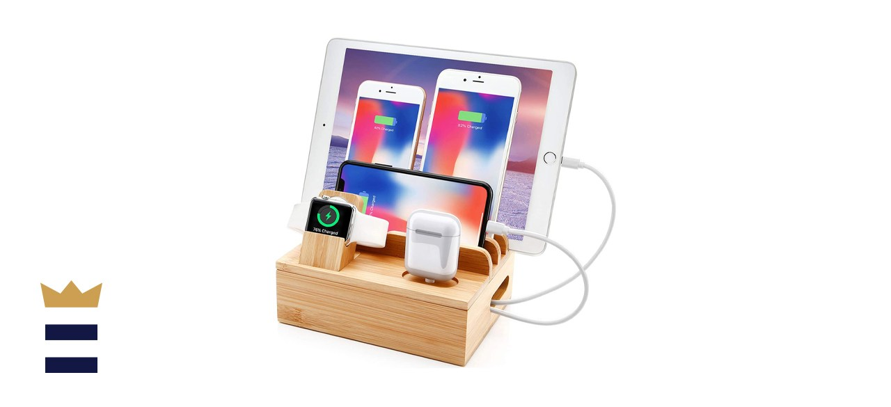 Bamboo Electronics Charger Station