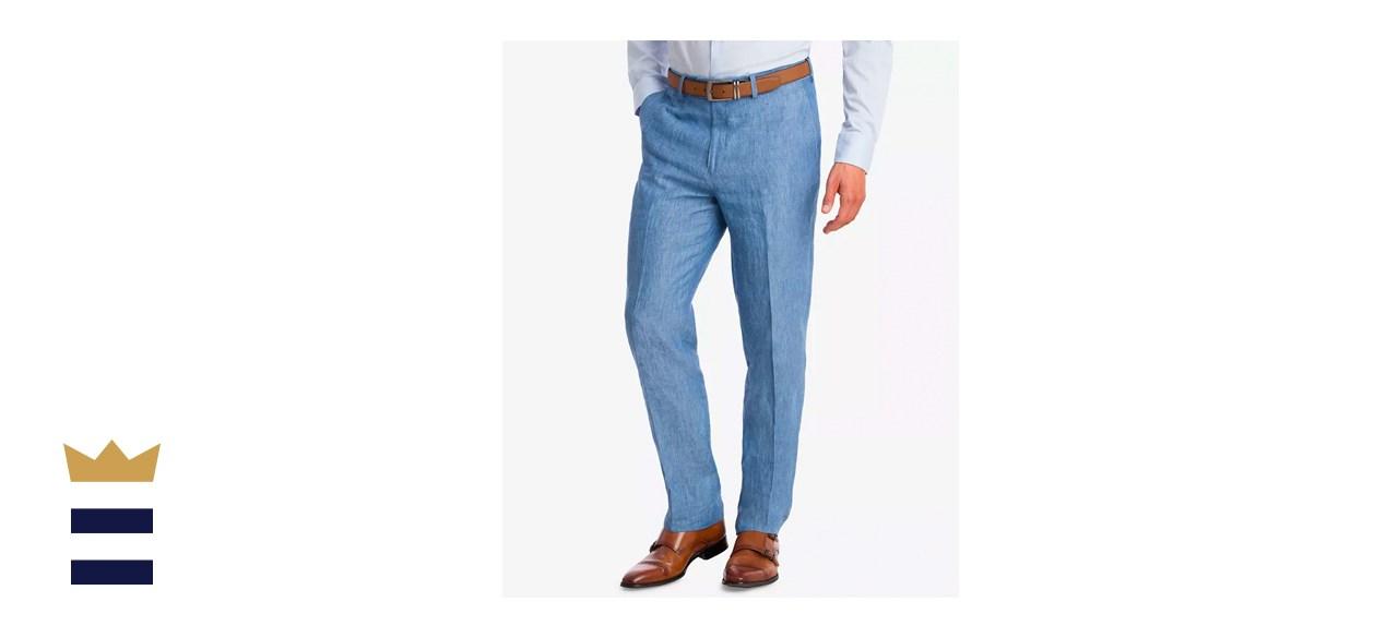 Bar III Slim-Fit Linen Suit Pants