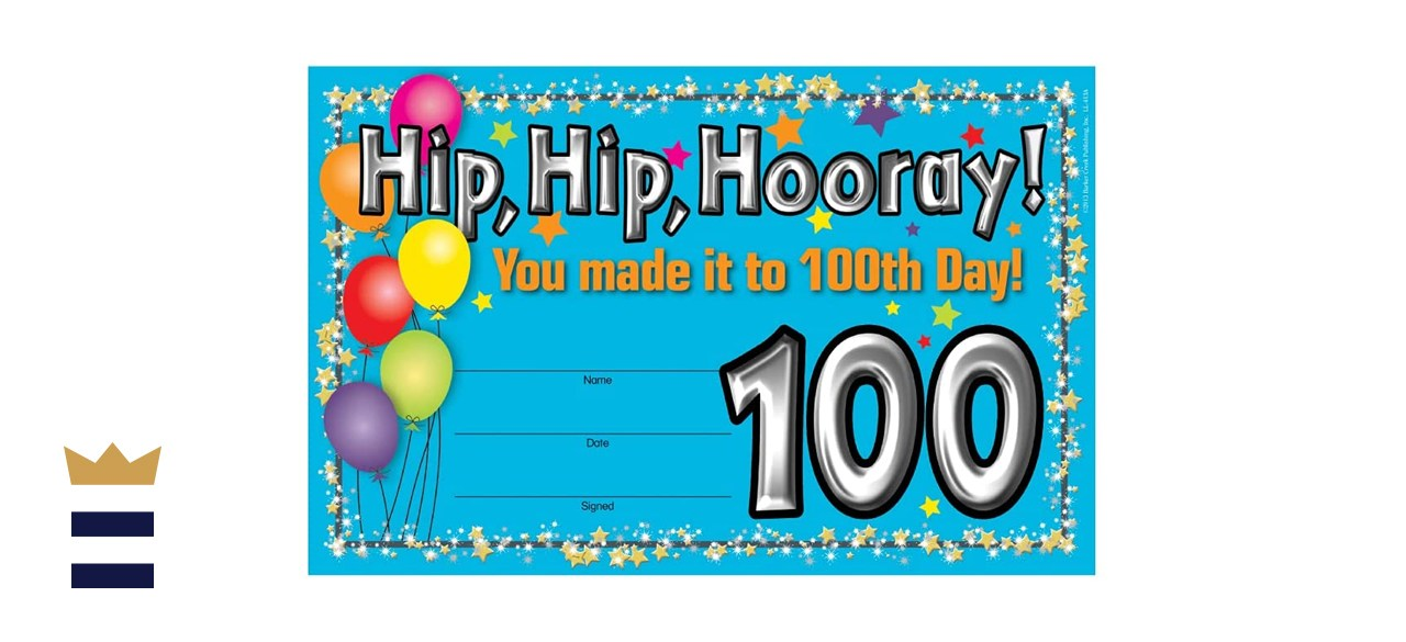 Barker Creek Recognition Awards 100th Day