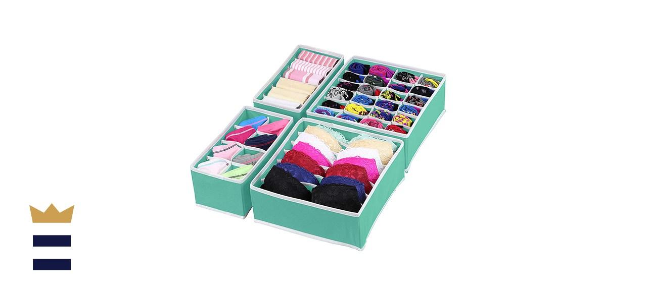 Simple Houseware Closet Underwear Organizer Drawer Divider 4 Set