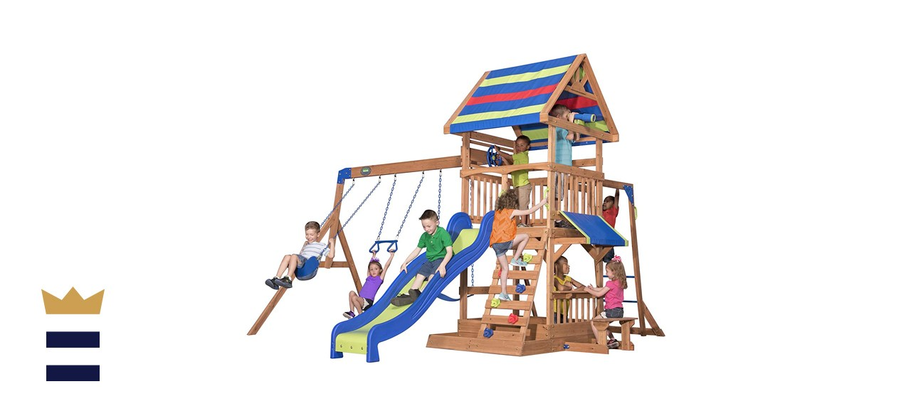 Beach Front All Cedar Wooden Swing Set