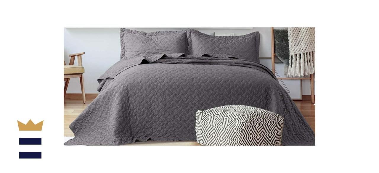 Bedsure 3 Piece Basketweave Quilt Set