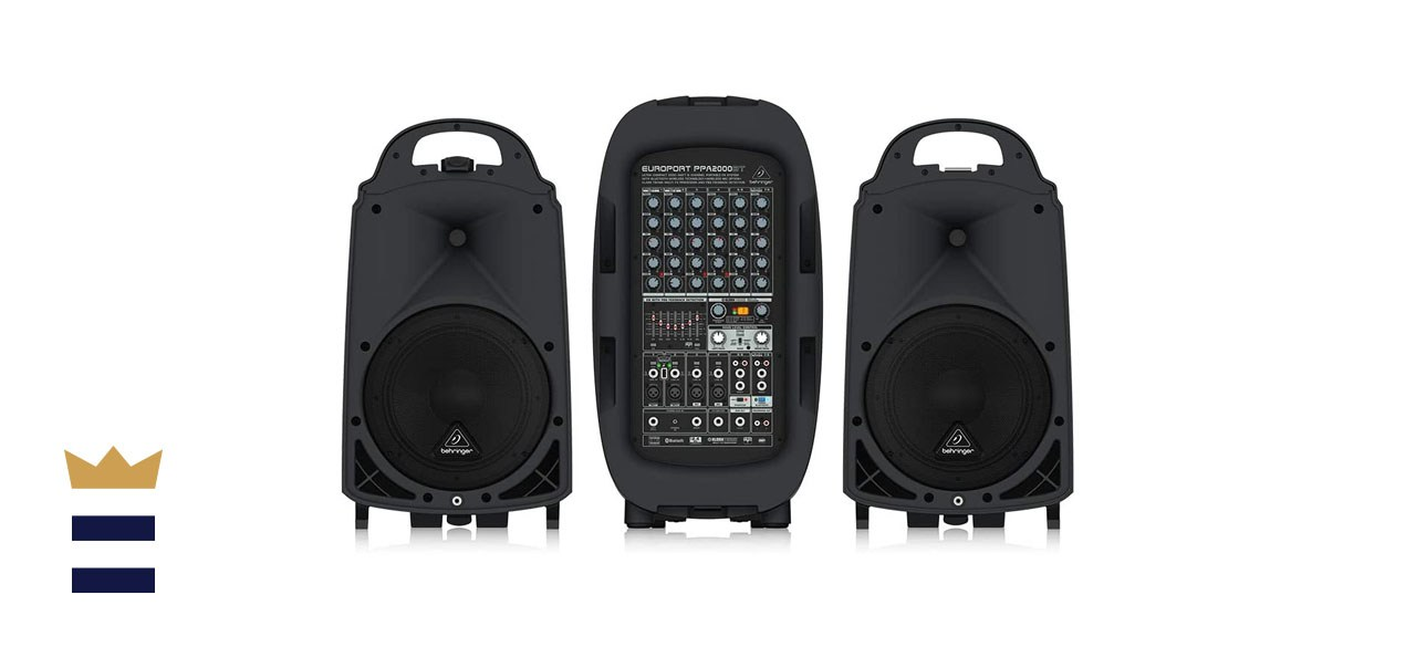 Behringer 8 PPA2000BT Ultra-Compact 2000-Watt 8-Channel Portable PA System