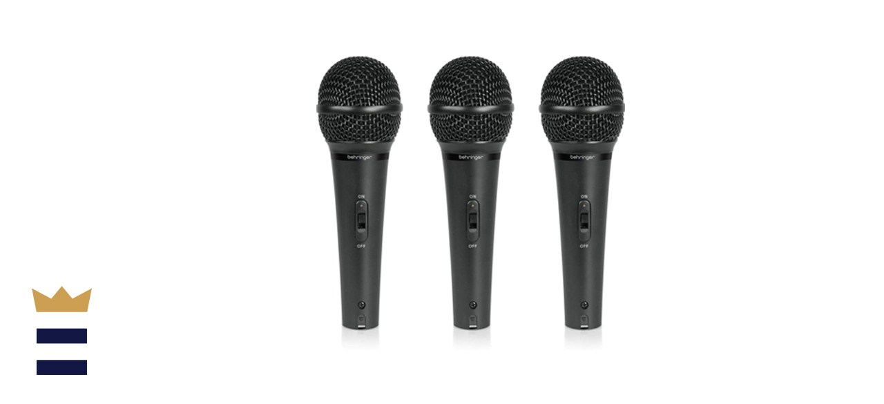 Behringer Ultravoice XM1800S Dynamic Cardioid Vocal and Instrument Microphones, Set of 3