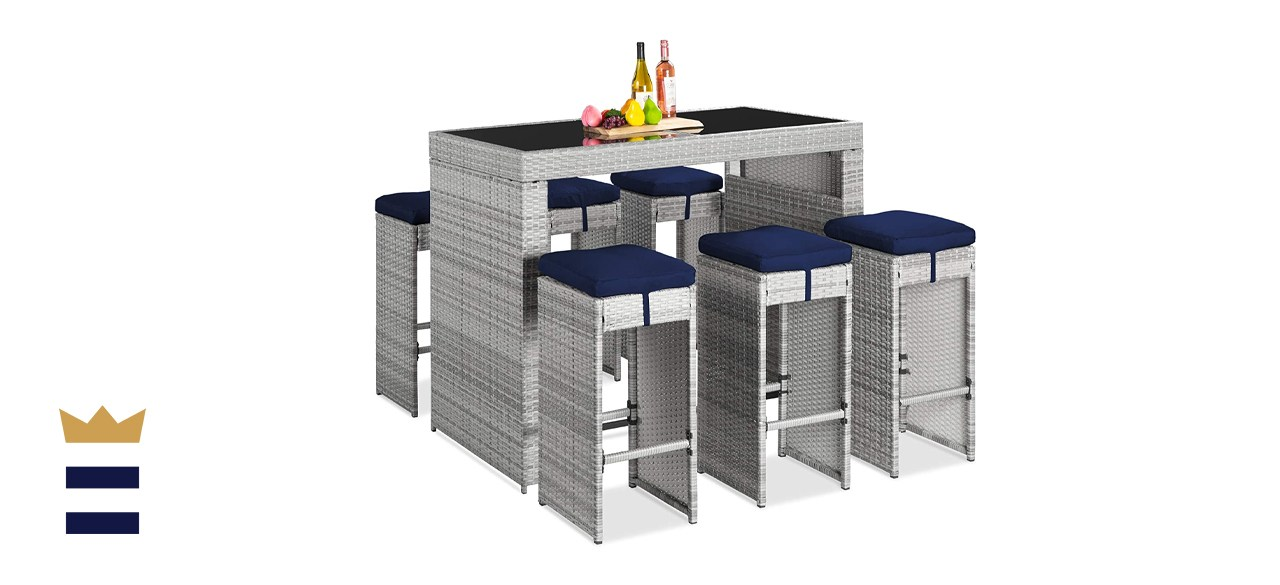 Best Choice Products 7-Piece Outdoor Bar Dining Set