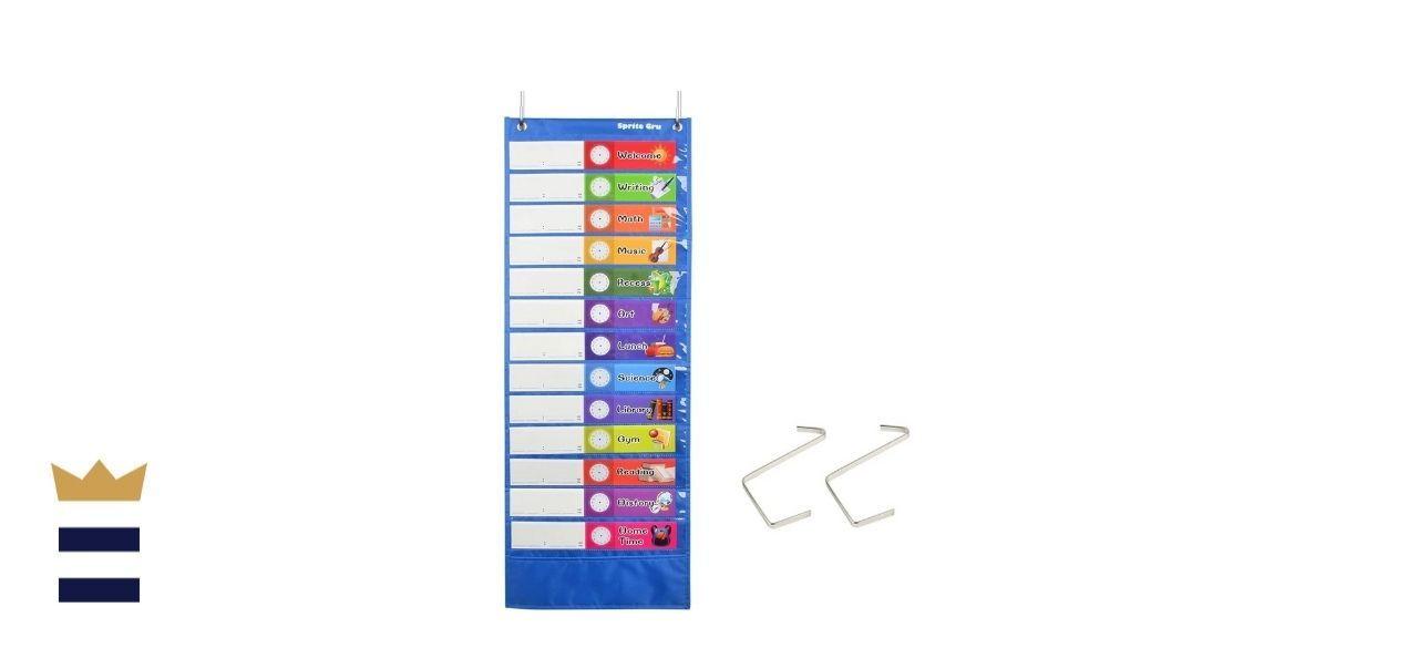 SpriteGru's Daily Schedule Pocket Chart