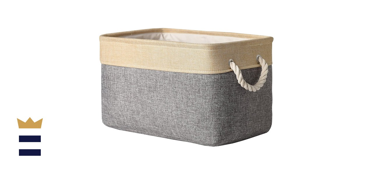 TheWarmHome Decorative Basket Rectangular Fabric Storage Bin