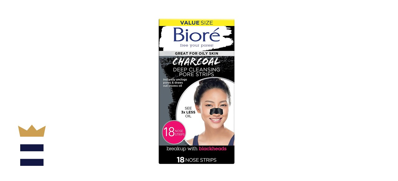 Biore Charcoal Deep-Cleansing Nose Strips for Blackhead Removal