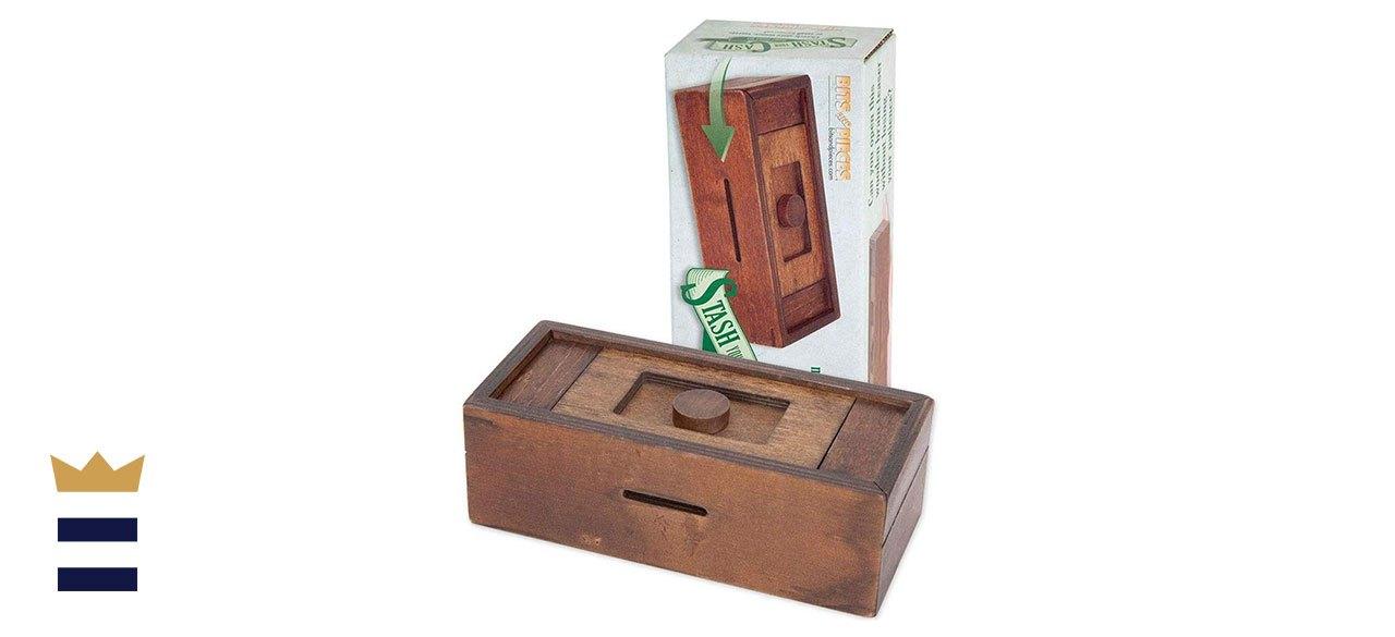 Bits and Pieces' Stash Your Cash Secret Puzzle Box Brainteaser