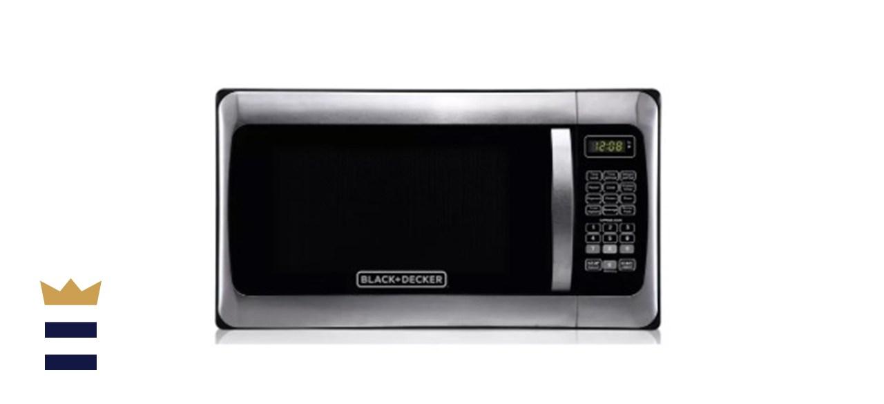 Black + Decker 1.1 Cubic Foot Stainless Steel Microwave
