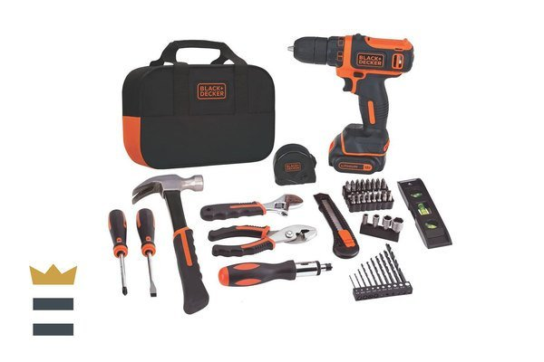 BLACK+DECKER 12V MAX Drill & Home Tool Kit