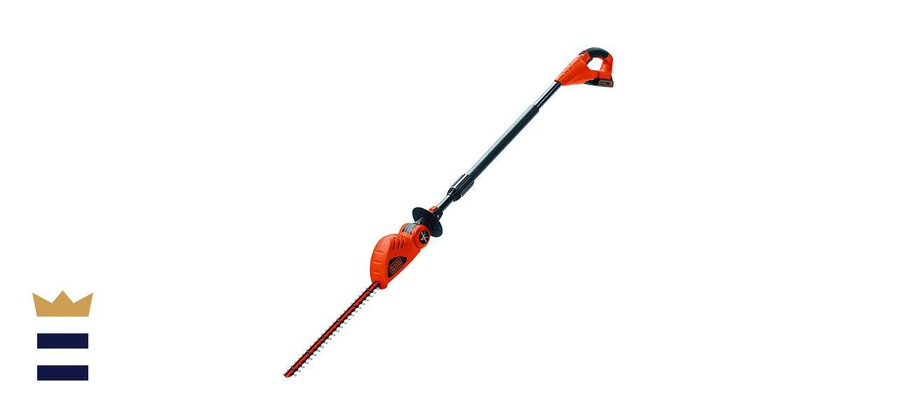 Black+Decker Cordless Pole Hedge Trimmer