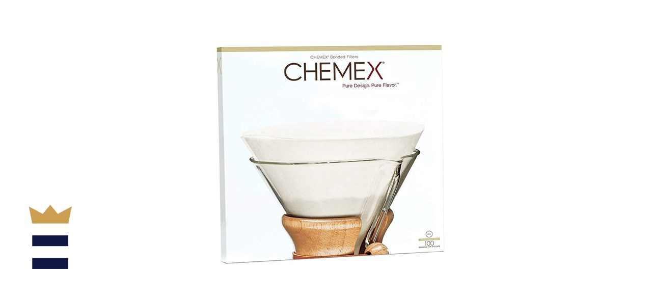 Chemex Coffee Filters with 100 Chemex Bonded Unfolded