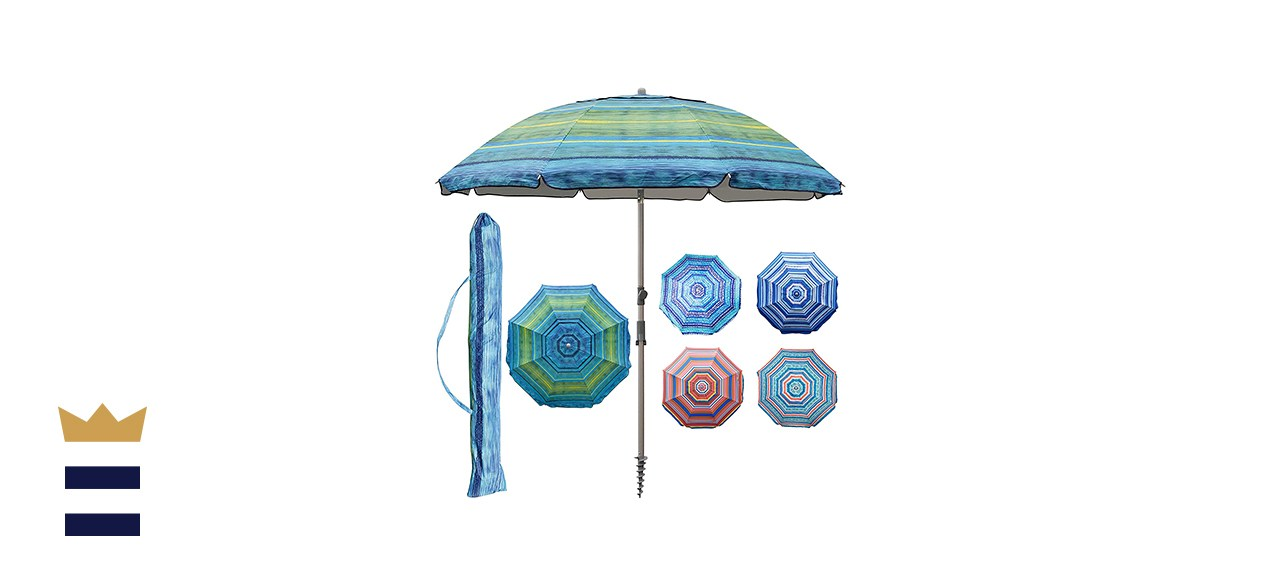 Blissun Portable Beach Umbrella with Sand Anchor