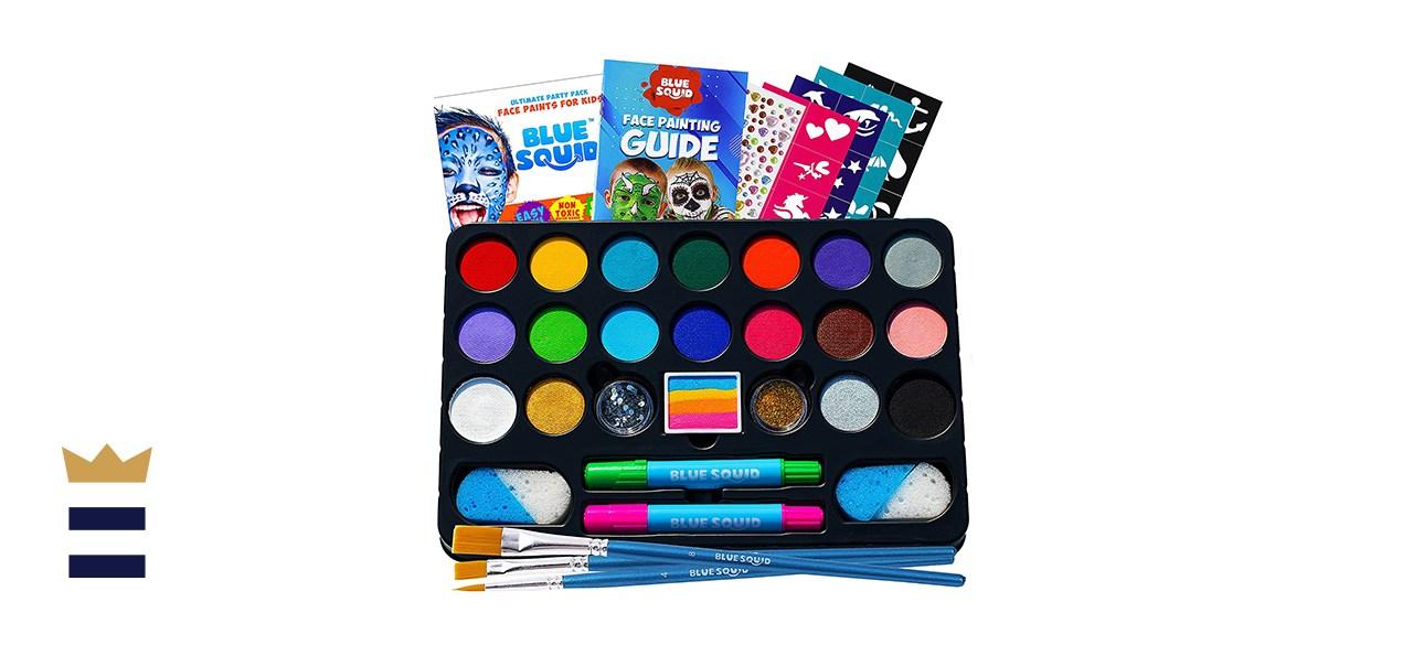 Blue Squid Face Paint Kit for Kids – 22 Colors