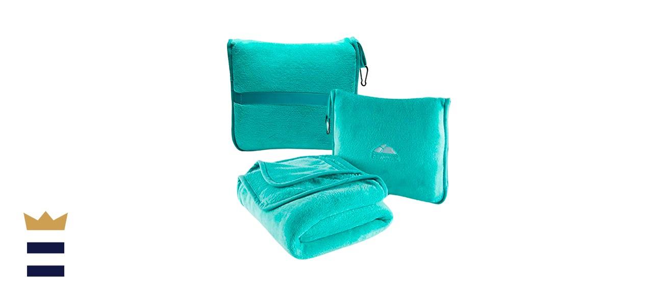 BlueHills Premium Airplane Blanket Pillow