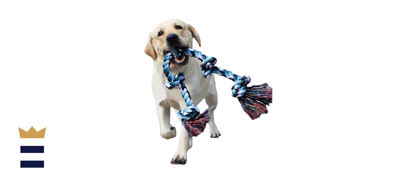BLUEISLAND Dog Rope Toys for Aggressive Chewers