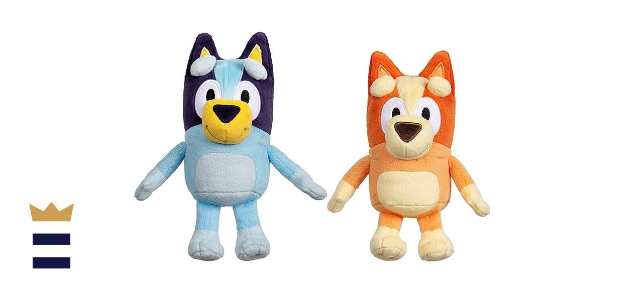 Bluey and Bingo Two-Pack of Mini Plush Bluey Toys