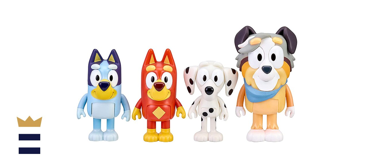 Bluey and Friends 2.5 3-Inch Four-Pack of Poseable Figure Bluey Toys