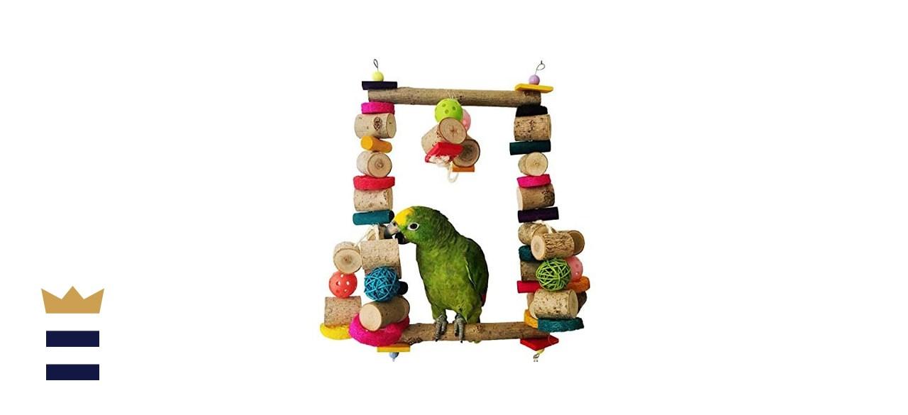 Bonaweite Extra Large Bird Chewing Swing Toy