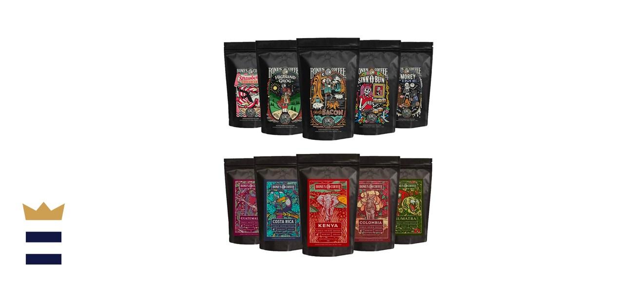 Bones Coffee Company Favorite Flavors Sample Pack
