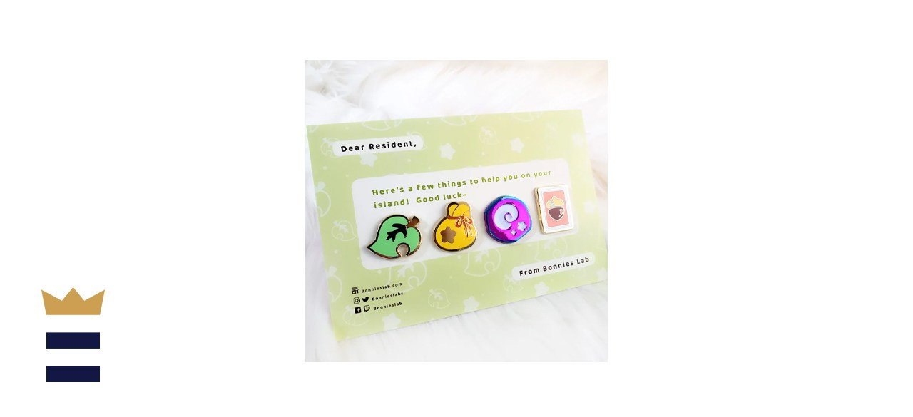 BonniesLab Animal Crossing Essential Items Enamel Pins Set