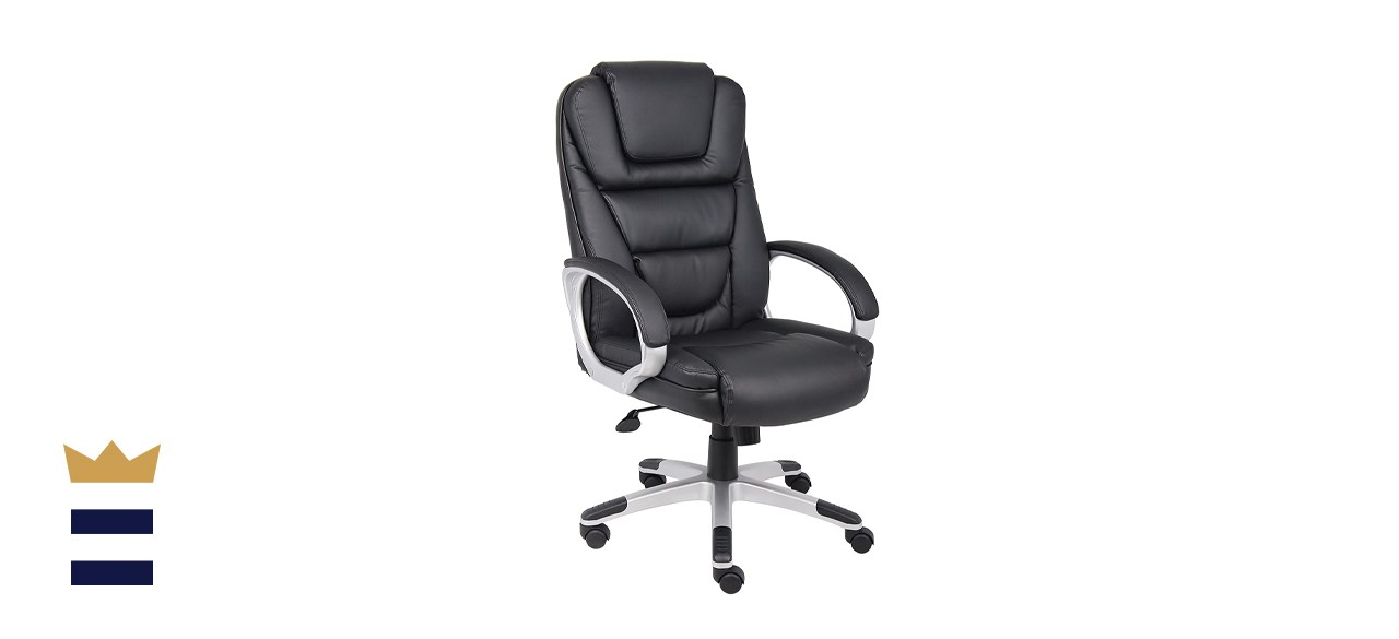 """Boss Office Products High Back """"No Tools Required"""" Executive"""