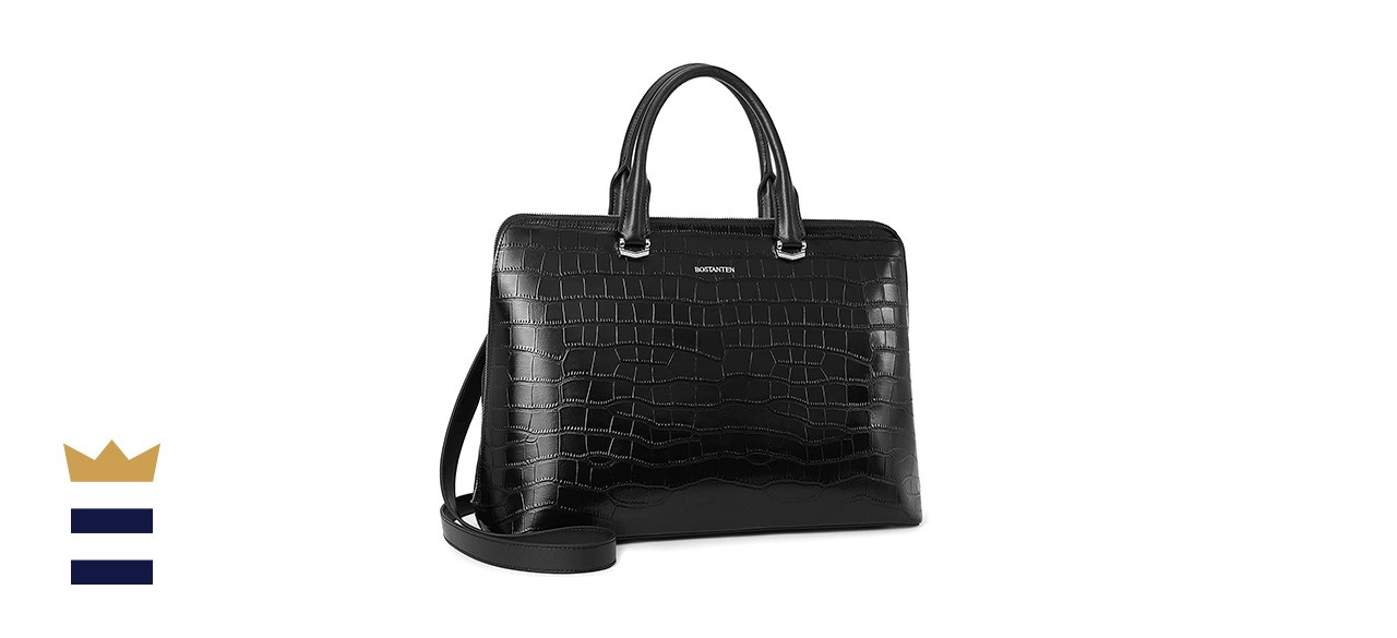 BOSTANTEN Leather Laptop Bag