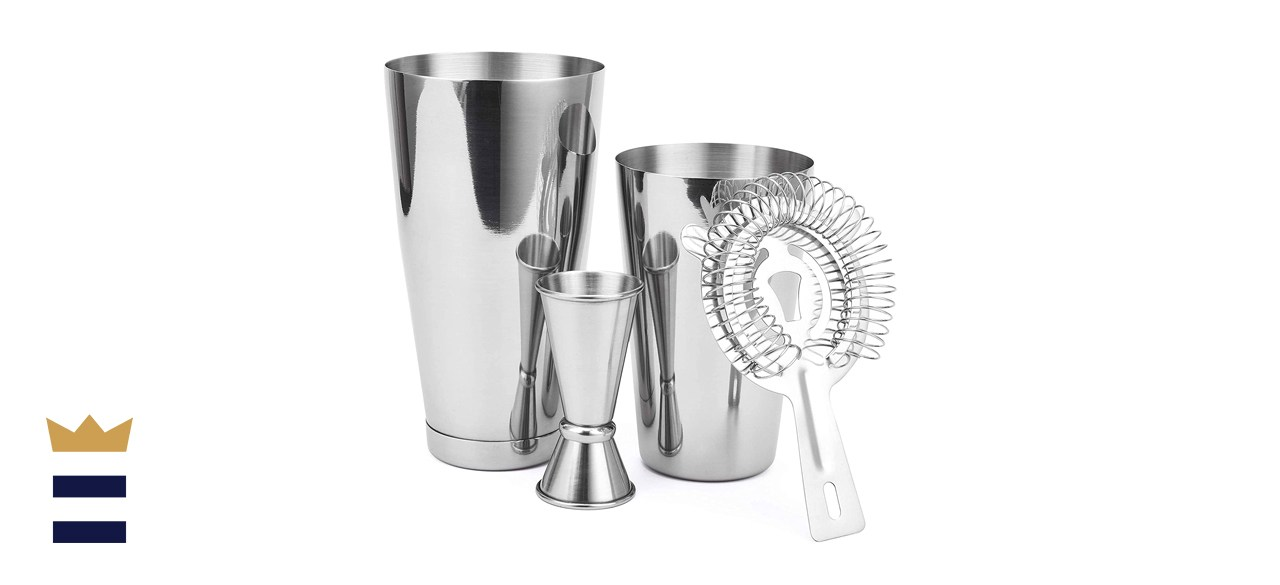 Boston Shaker Professional Stainless Steel Cocktail Shaker Set