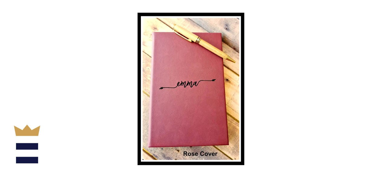 BPLaserEngraving Personalized Leather Journal