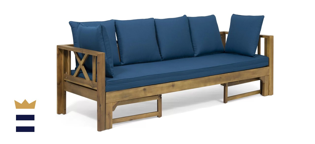 Breakwater Bay Trevion Extendable Patio Sofa with Cushions